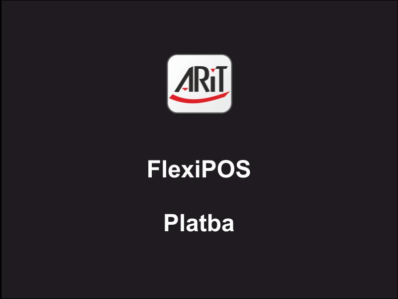 Pokladní systém FlexiPOS - Platba