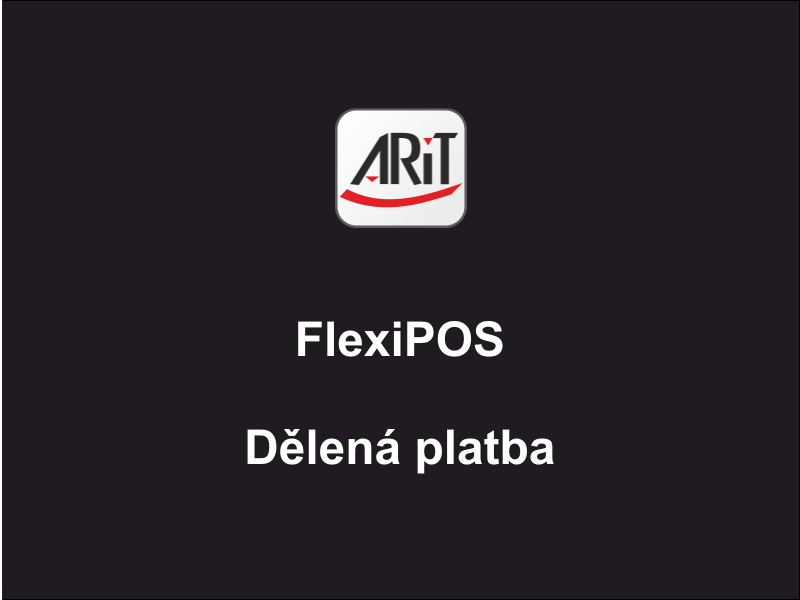 Pokladní systém FlexiPOS - Dělená platba